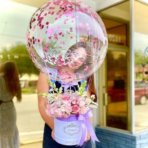 balloon floral arrangement orlando