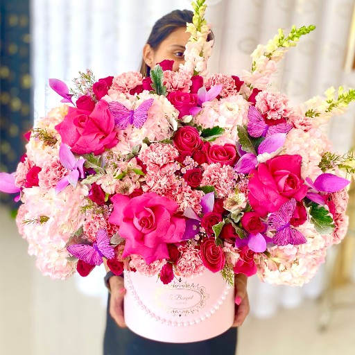 hot pink flowers delivery orlando