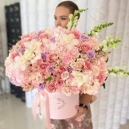 pink floral arrangement orlando fl