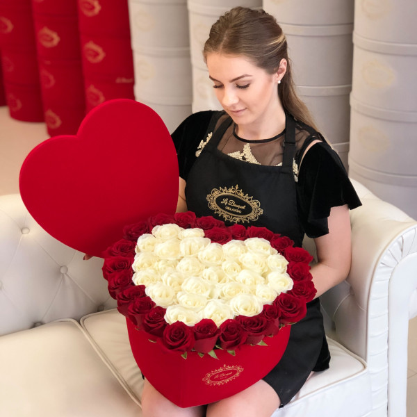 Large Heart Roses