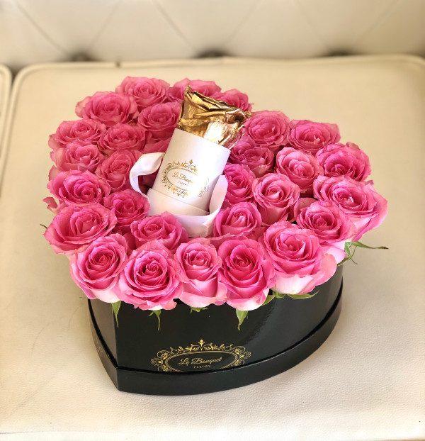 Orlando Roses Medium Heart