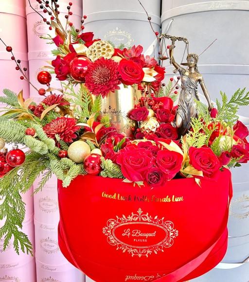 red flower arrangement orlando