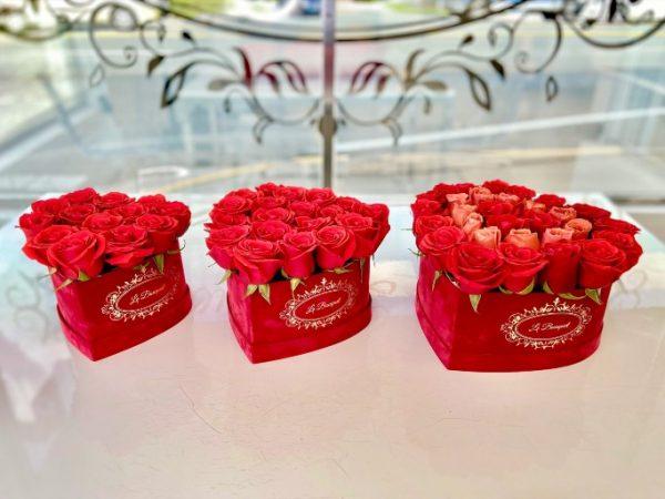 Orlando Roses Heart Box